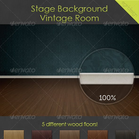 Stage Background - Vintage Room