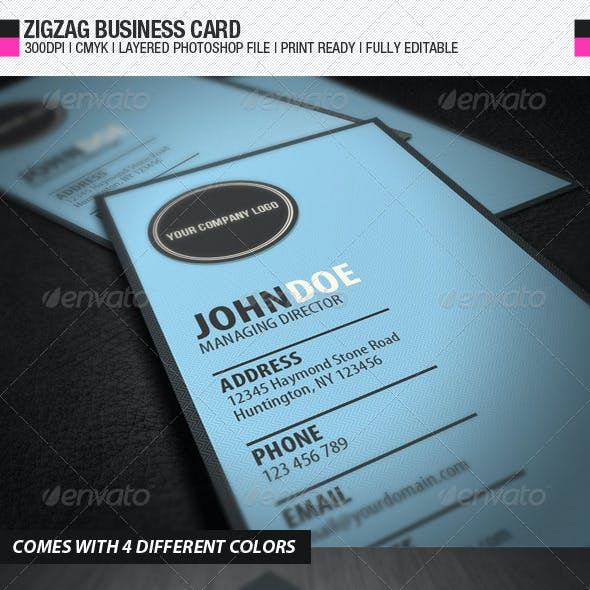 Zigzag Business Card