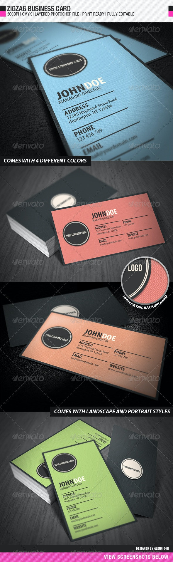 Zigzag Business Card - Corporate Business Cards