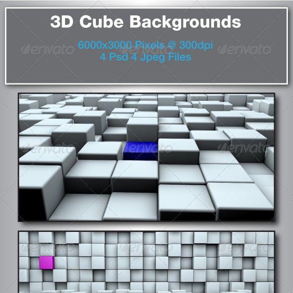 3D Rendered Matt Cube Backgrounds