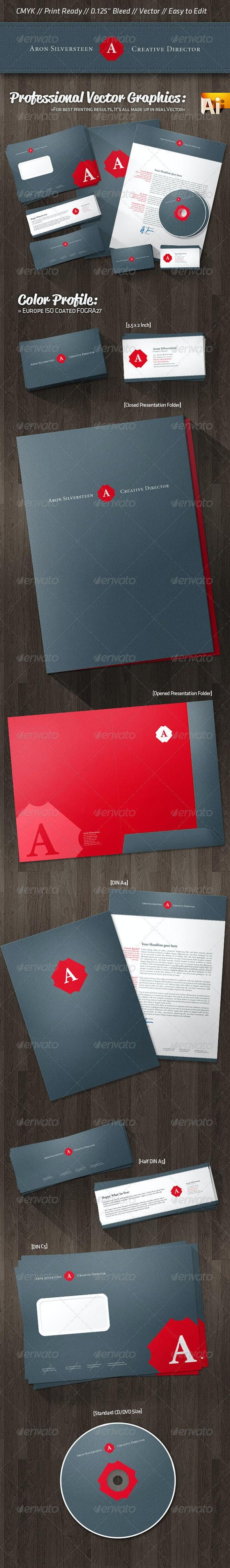 Creative Director Corporate Identity Retro Style - Stationery Print Templates