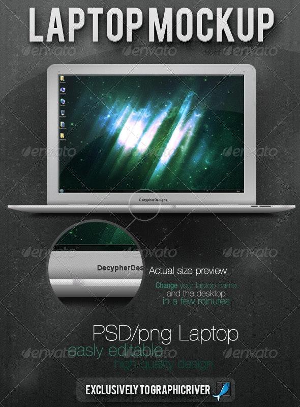 Laptop - PSD/PNG - Resizable - Laptop Displays