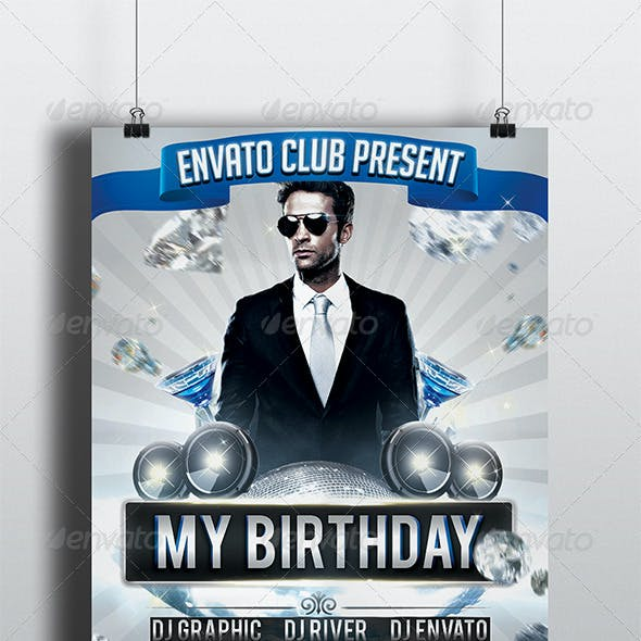 My Birthday Party Flyer Template