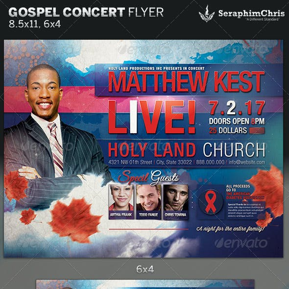 Gospel Concert Flyer Template