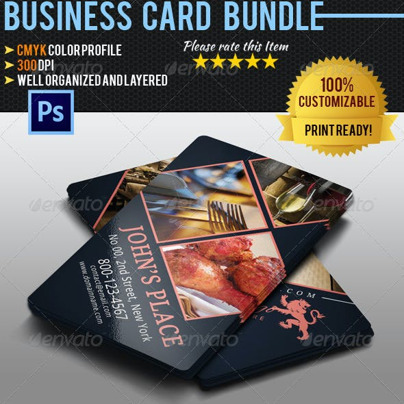 Restaurant Business Card Bundle