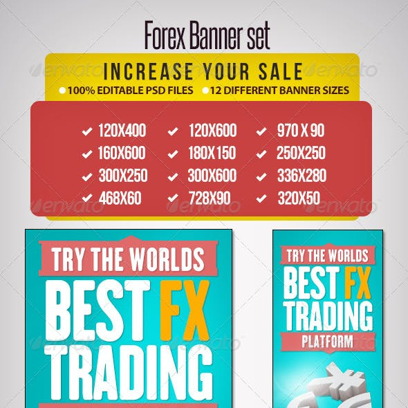 Forex Banner Set - 12 Sizes