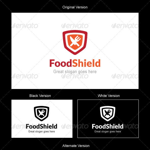Food Shield Logo Design