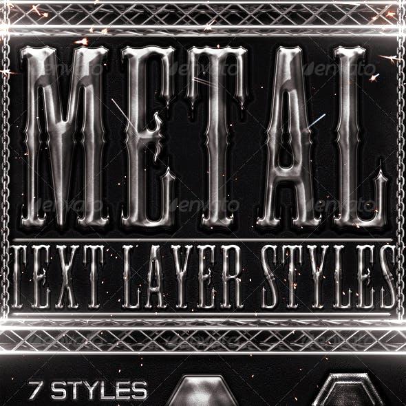 Metal Photoshop Text Styles