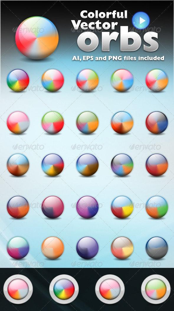 Colorful Vector Orbs - Web Elements Vectors