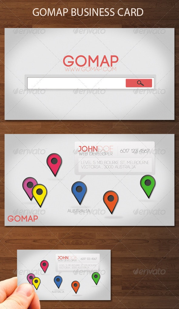 Gomap business card - Creative Business Cards
