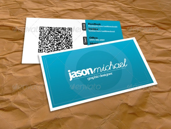 The Clean QR Card  - Corporate Business Cards
