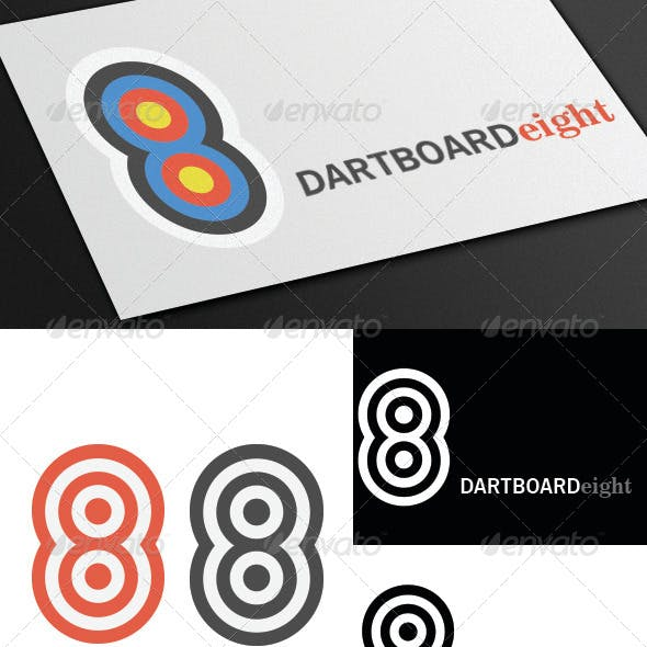 Dartboard 8 Logo Template