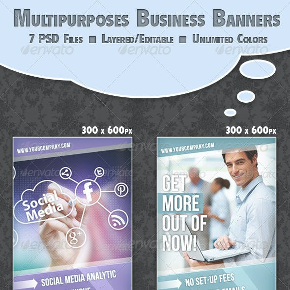 Multipurposes Business Banner Set