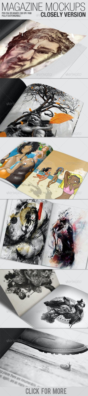 Magazine Mockups – Closely Version - Magazines Print