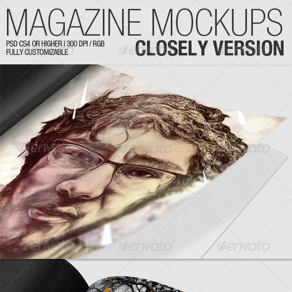 Magazine Mockups – Closely Version