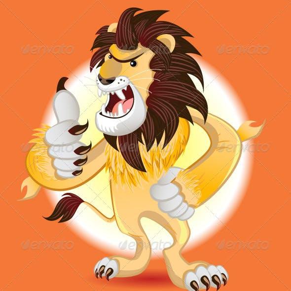 Lion King of Beast Mascot