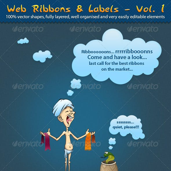Web Ribbons & labels – Vol. 1