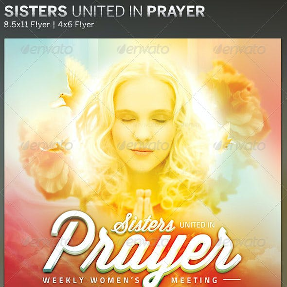 Sisters United in Prayer: Church Flyer Template