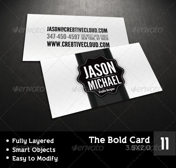 The Bold Card - Creative Business Cards