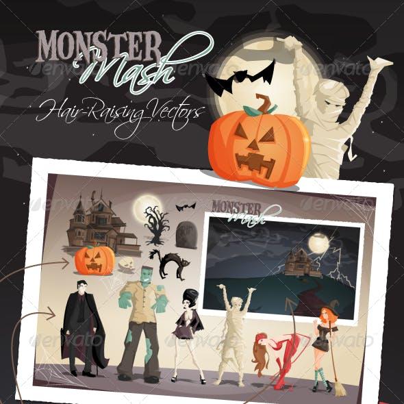 Monster Mash Halloween Vectors