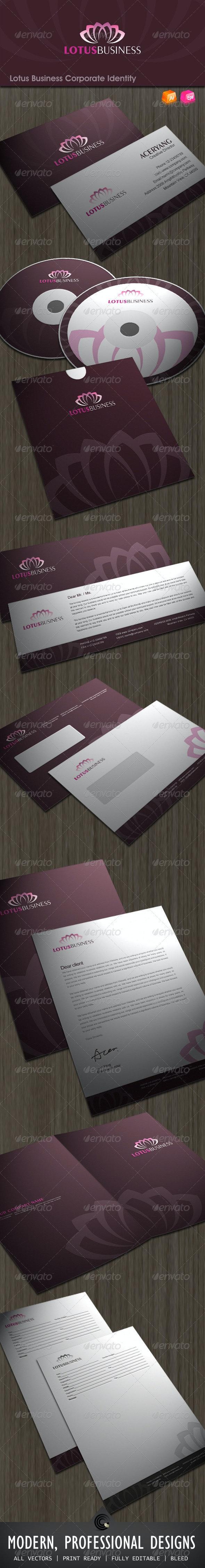 Lotus Business Corporate Identity - Stationery Print Templates