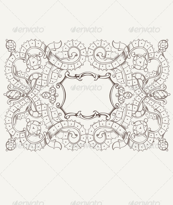 Vintage Pattern Background With Ribbons, Strips An