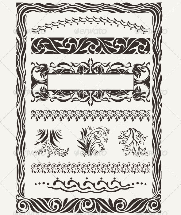 Original Design Frames and Page Decorations