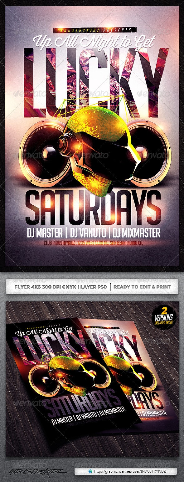 Get Lucky Flyer Template  - Events Flyers