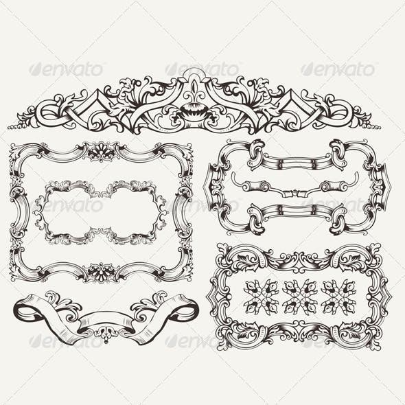 Download Ornate Vintage Frames and Page Decorations