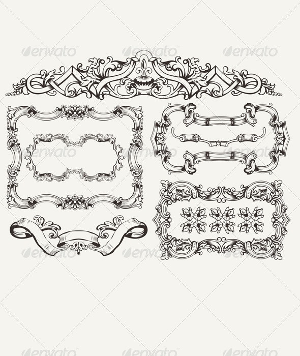 Ornate Vintage Frames and Page Decorations