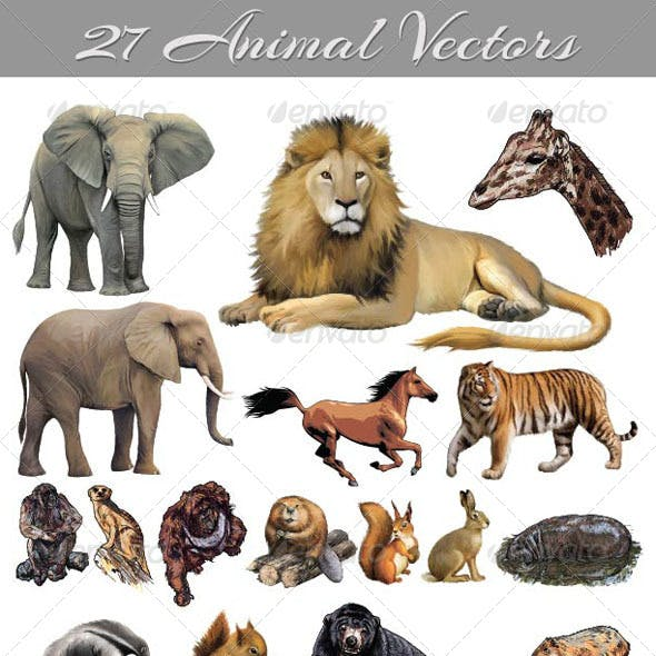 27 Animal Vectors
