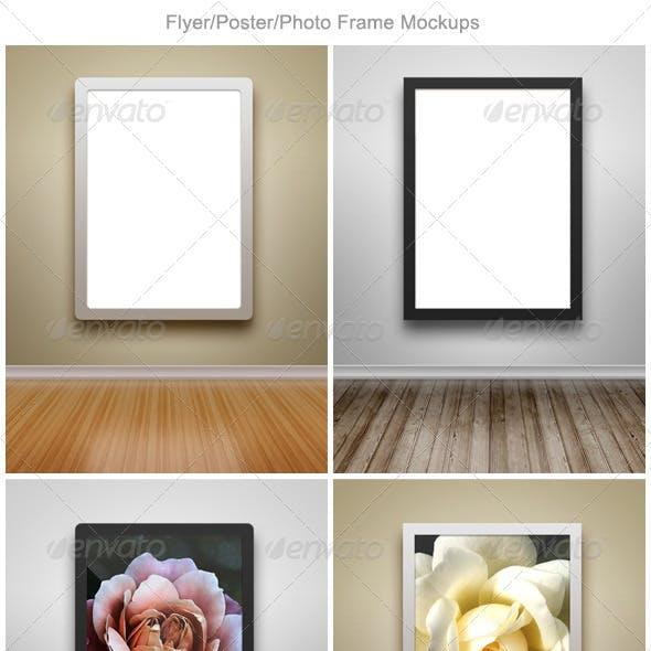 Flyer / Poster / Photo Frame Mockups