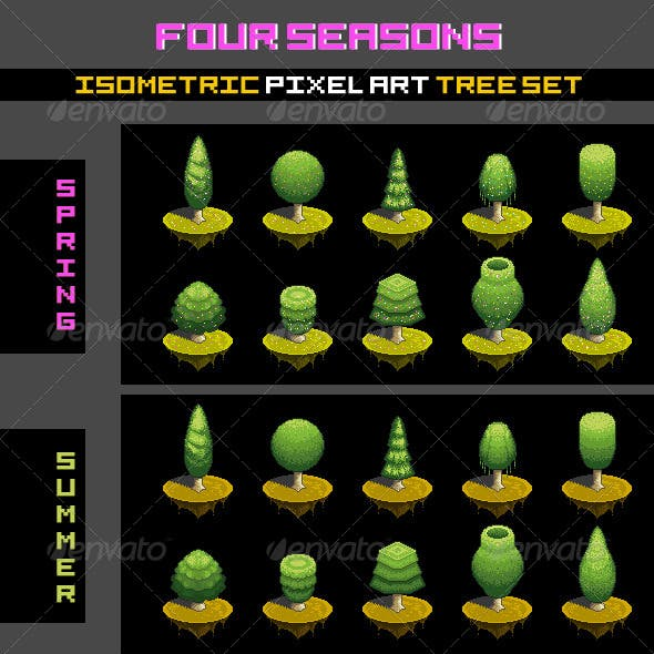 Tree Set - Four Seasons