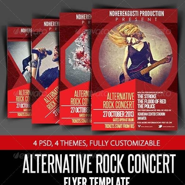 Alternative Rock Concert Flyer Template