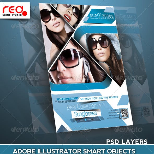 SunGlasses Fashion Store Flyer/Poster Template