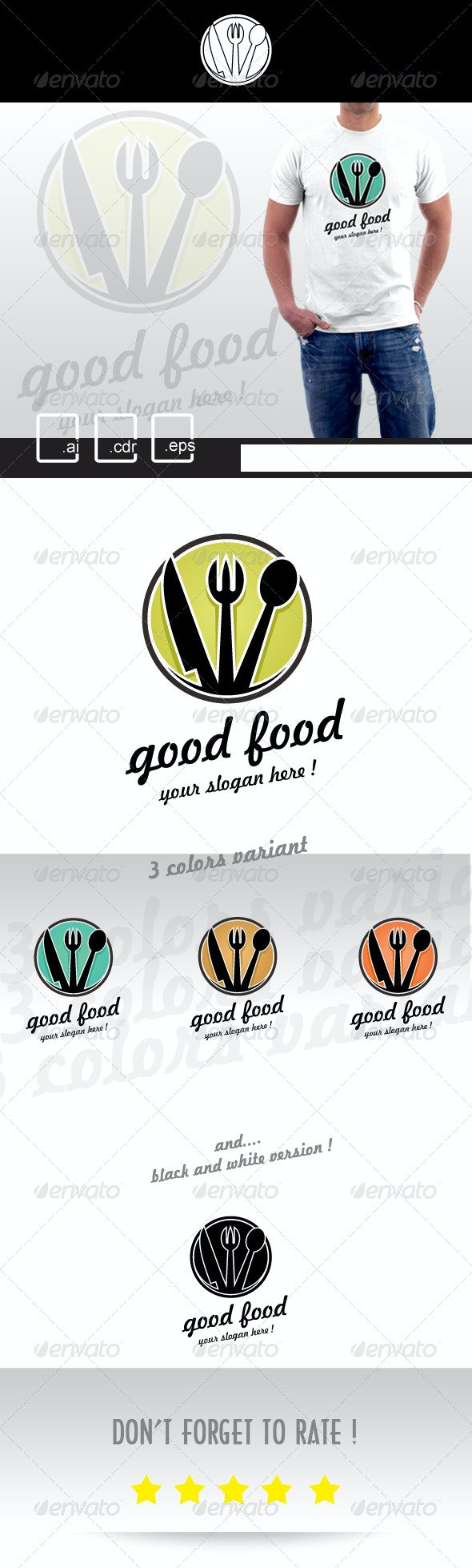 Good Food Restaurant Logo - Restaurant Logo Templates