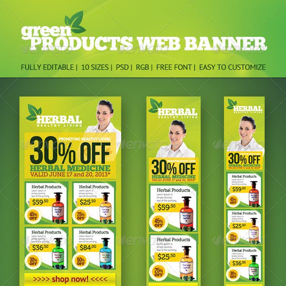 Product Web Banners
