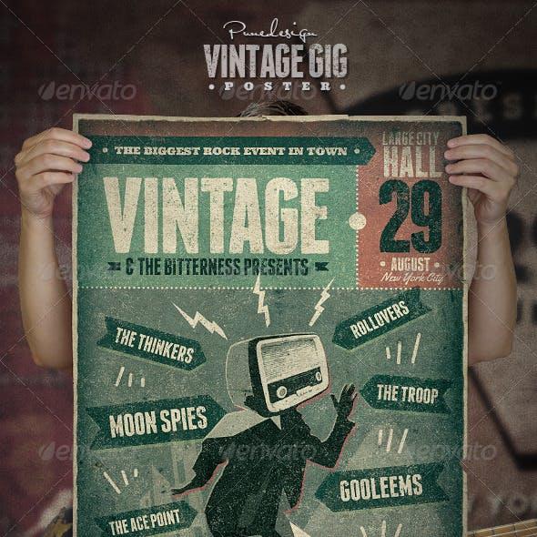 Vintage GIG Poster