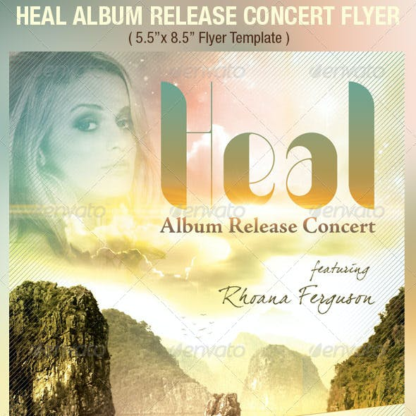 Heal Album Release Concert Flyer Template