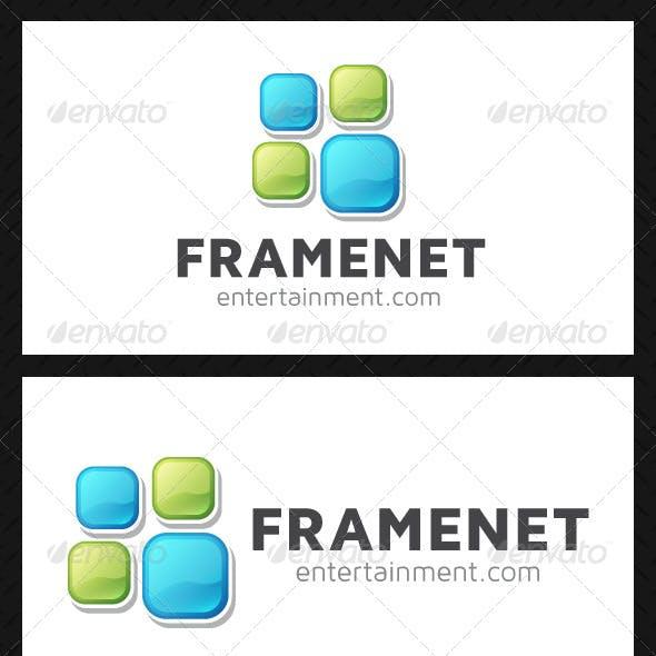 Download Frame Squares Logo Template