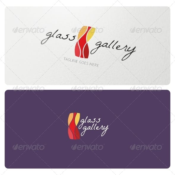 Glass Gallery Logo Template
