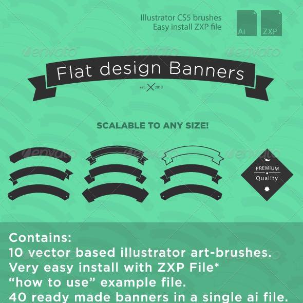 Flat Design Banners Volume 1