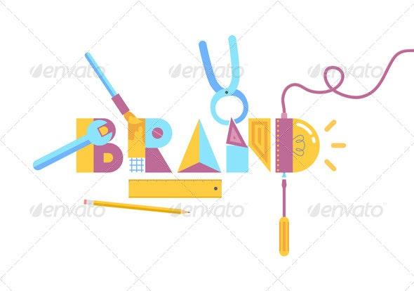 Brand Construction Concept - Concepts Business
