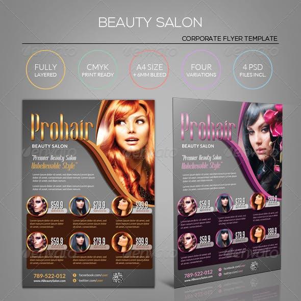 Golden Beauty Salon - Flyer Template