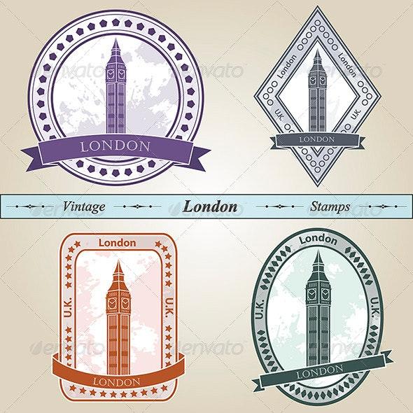 Vintage Stamp London