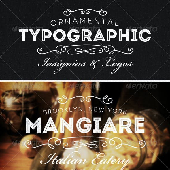 Ornamental Typographic Insignias | Logos