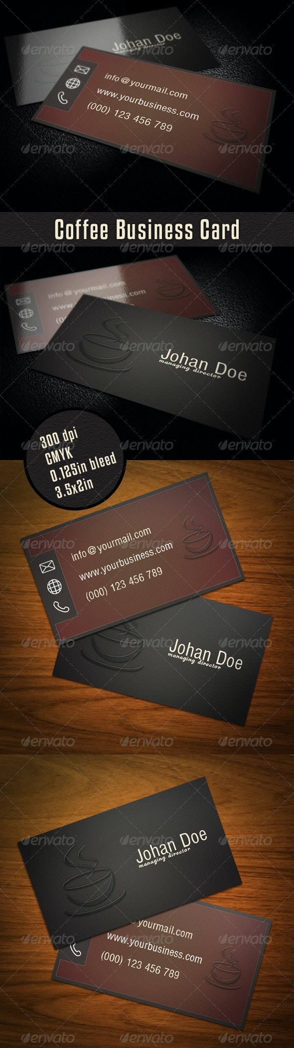 Coffee Business Card - Industry Specific Business Cards