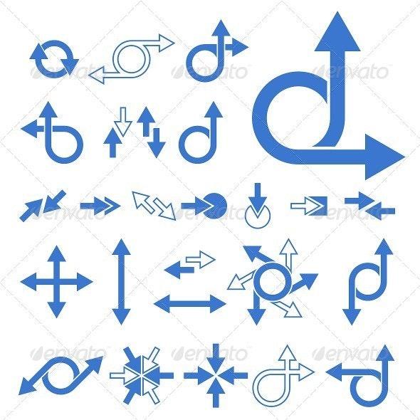 Vector Arrow Signs Collection - Decorative Symbols Decorative