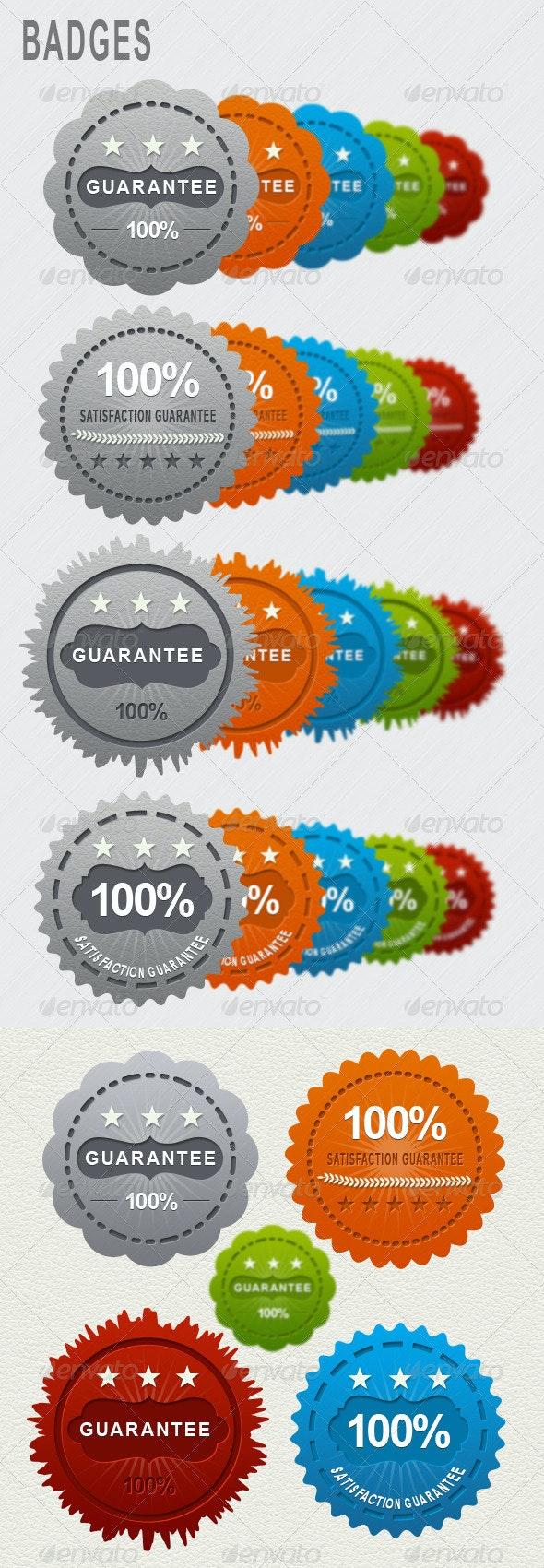 Web Badges - Badges & Stickers Web Elements