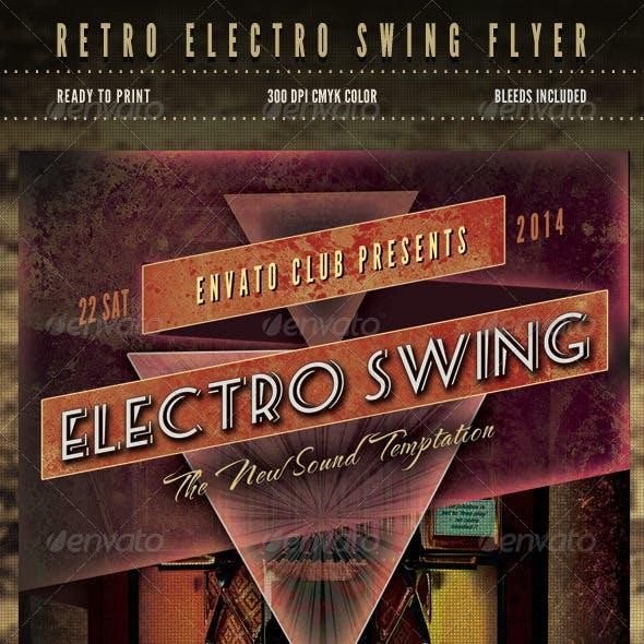 Retro Electro Swing Flyer